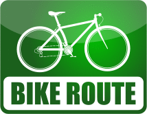 Kowulz Bike Route sign